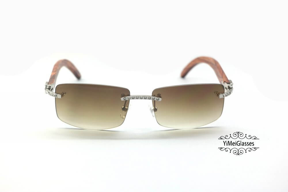 Cartier Wooden Diamond Rimless Sunglasses CT3524012插图(9)