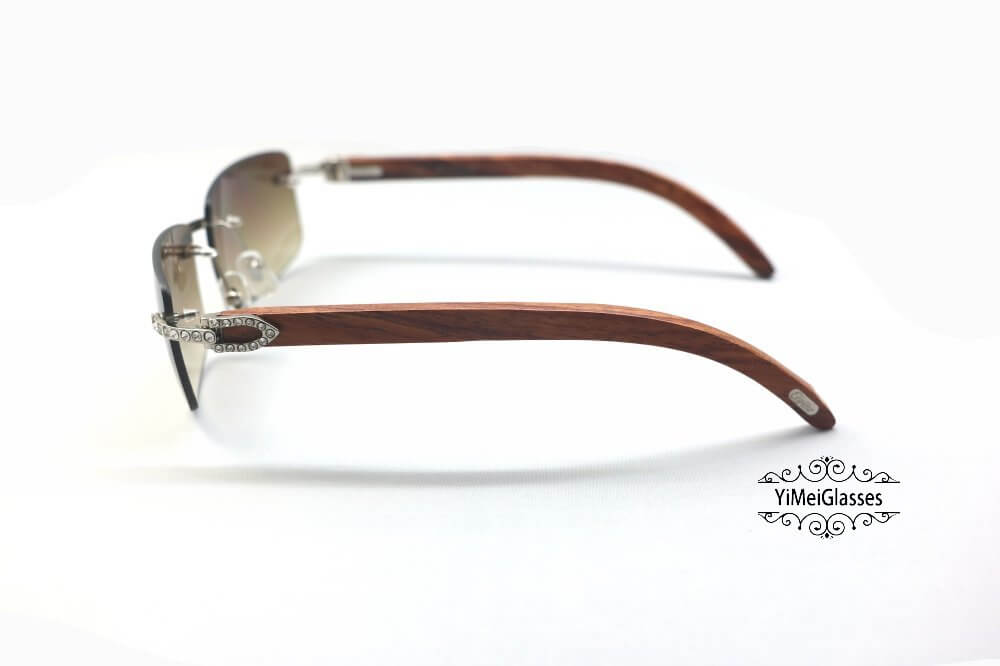 Cartier Wooden Diamond Rimless Sunglasses CT3524012插图(11)