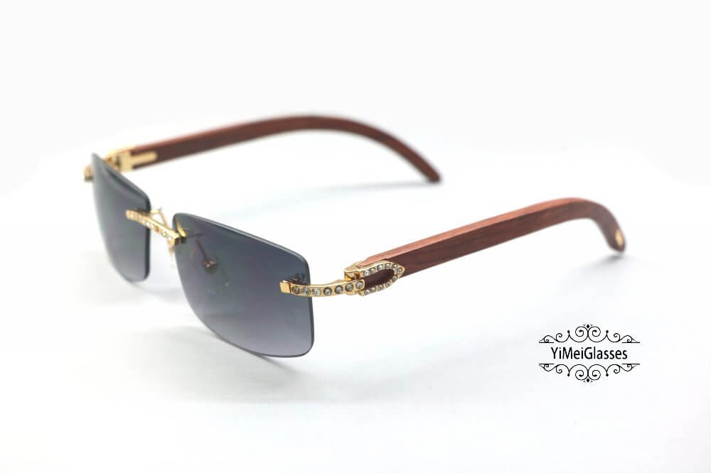 Cartier Wooden Diamond Rimless Sunglasses CT3524012插图(13)