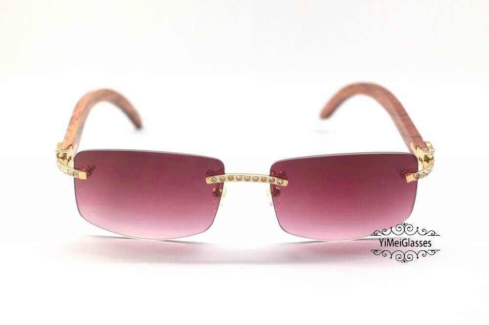 Cartier Wooden Diamond Rimless Sunglasses CT3524012插图(15)