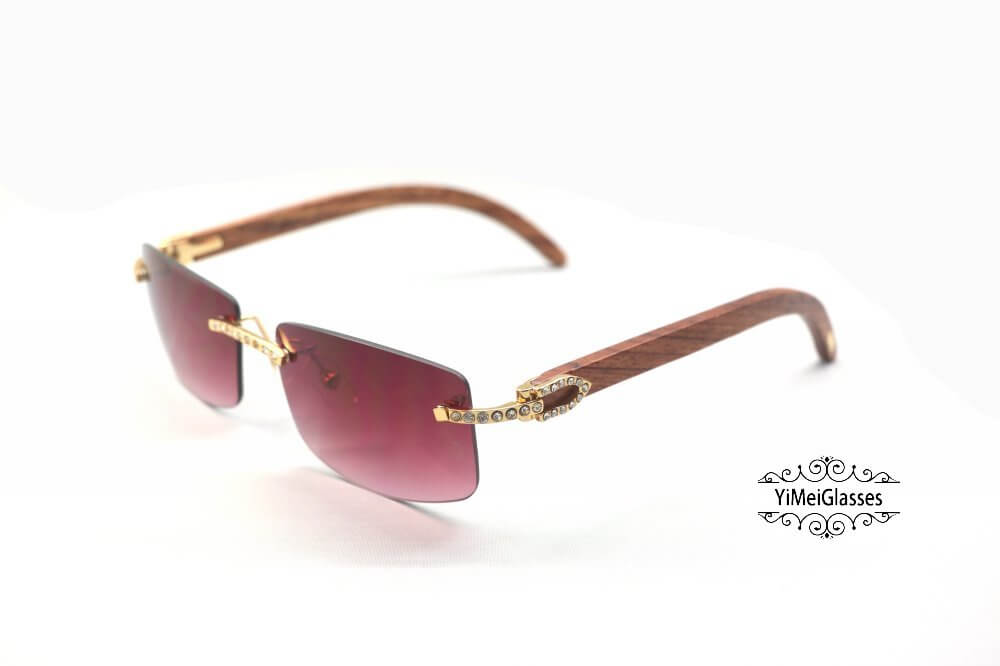 Cartier Wooden Diamond Rimless Sunglasses CT3524012插图(16)