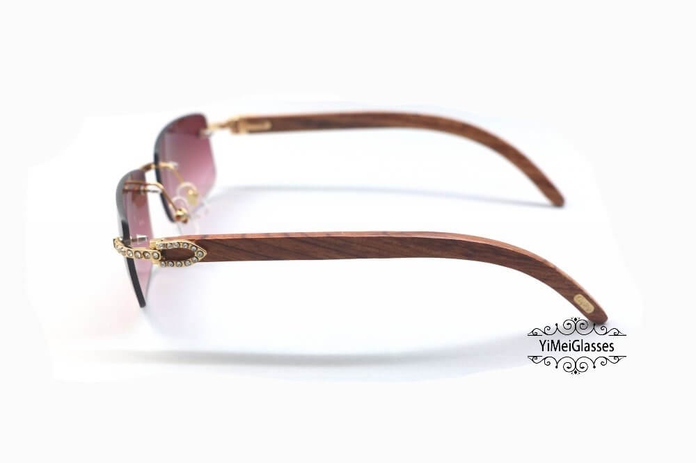 Cartier Wooden Diamond Rimless Sunglasses CT3524012插图(17)