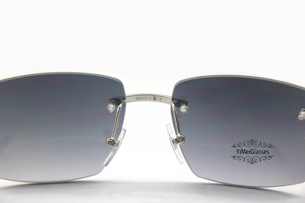 Cartier Wooden Diamond Rimless Sunglasses CT3524012插图(5)