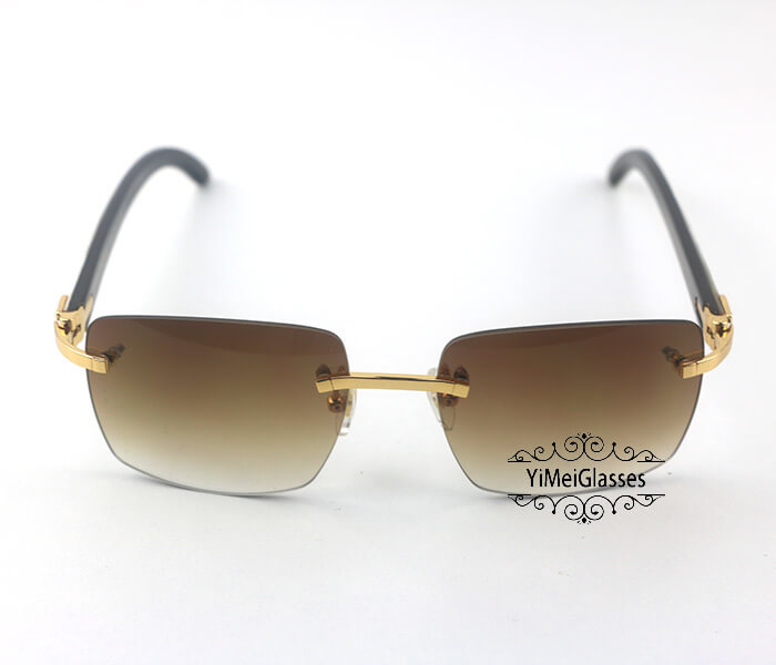 Cartier Double Color Horn Classic Rimless Sunglasses CT3524012插图