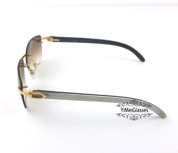 Cartier Double Color Horn Classic Rimless Sunglasses CT3524012插图(2)