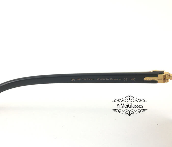 Cartier Double Color Horn Classic Rimless Sunglasses CT3524012插图(3)