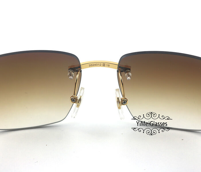 Cartier Double Color Horn Classic Rimless Sunglasses CT3524012插图(5)