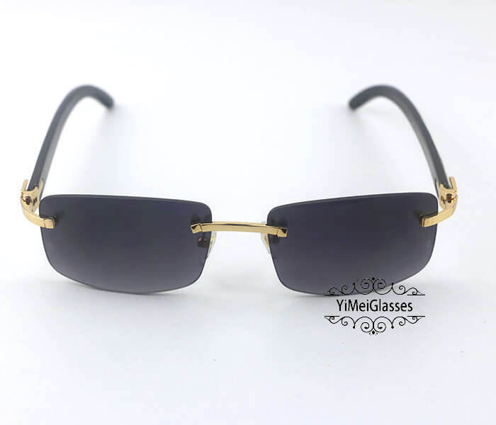 Cartier Double Color Horn Classic Rimless Sunglasses CT3524012插图(7)