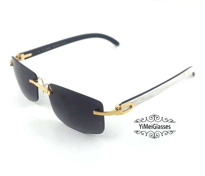 Cartier Double Color Horn Classic Rimless Sunglasses CT3524012插图(8)