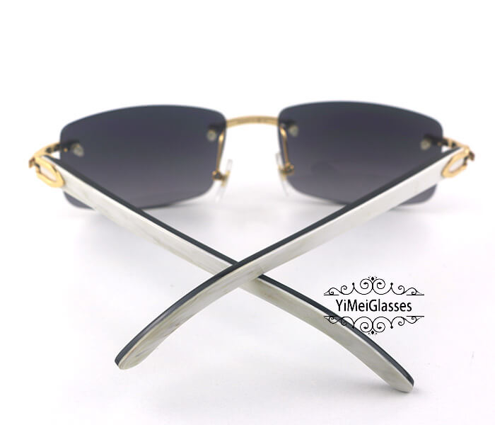 Cartier Double Color Horn Classic Rimless Sunglasses CT3524012插图(9)