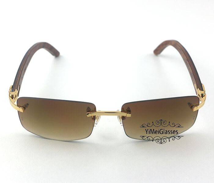 Cartier Wooden Classic Rimless Sunglasses CT3524012插图36
