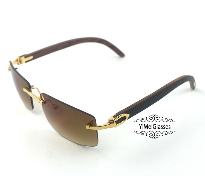 Cartier Wooden Classic Rimless Sunglasses CT3524012插图37