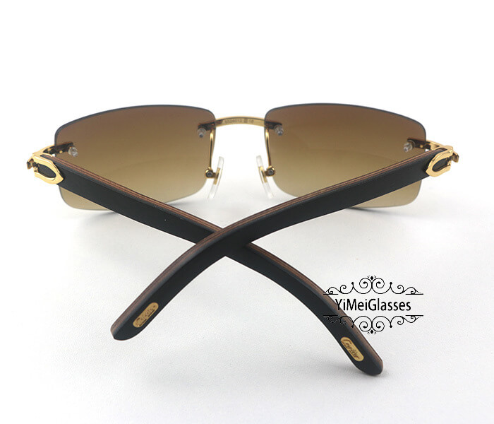 Cartier Wooden Classic Rimless Sunglasses CT3524012插图38