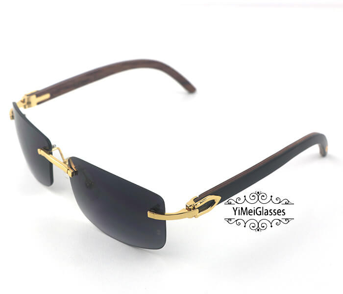 Cartier Wooden Classic Rimless Sunglasses CT3524012插图39