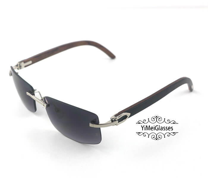 Cartier Wooden Classic Rimless Sunglasses CT3524012插图40