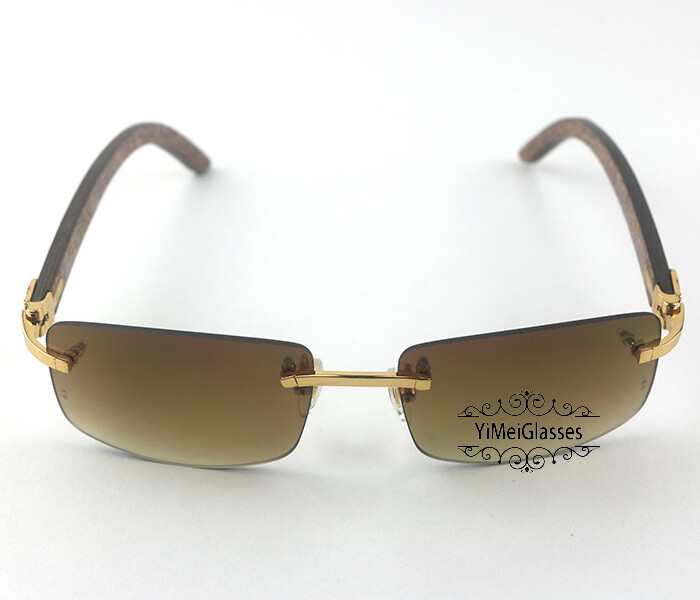Cartier Wooden Classic Rimless Sunglasses CT3524012插图15