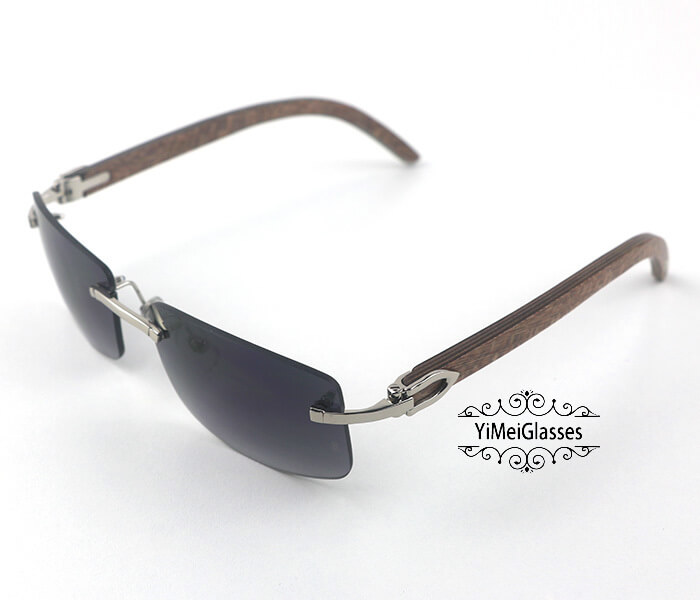 Cartier Wooden Classic Rimless Sunglasses CT3524012插图24