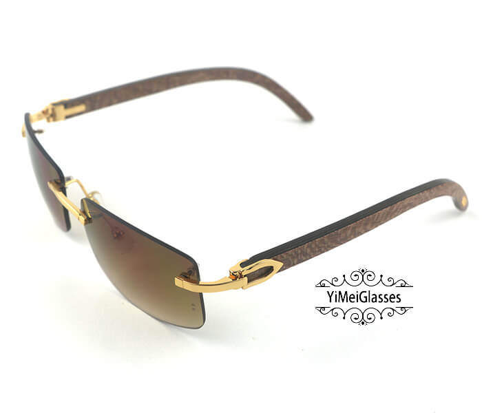 Cartier Wooden Classic Rimless Sunglasses CT3524012插图16