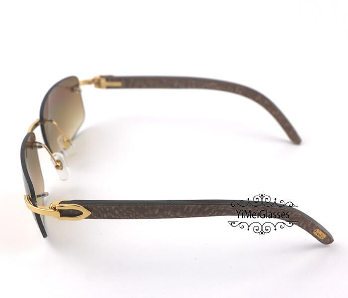 Cartier Wooden Classic Rimless Sunglasses CT3524012插图17