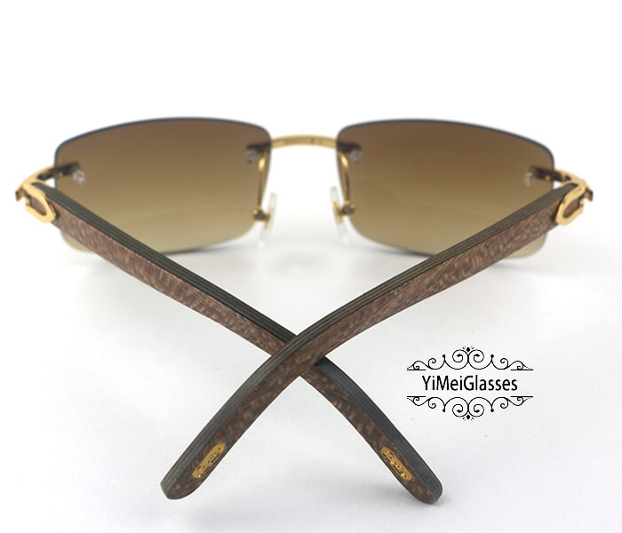 Cartier Wooden Classic Rimless Sunglasses CT3524012插图20