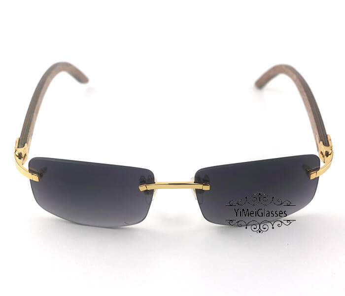 Cartier Wooden Classic Rimless Sunglasses CT3524012插图21