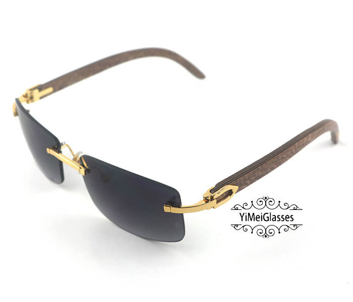Cartier Wooden Classic Rimless Sunglasses CT3524012插图22
