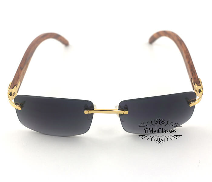 Cartier Wooden Classic Rimless Sunglasses CT3524012插图