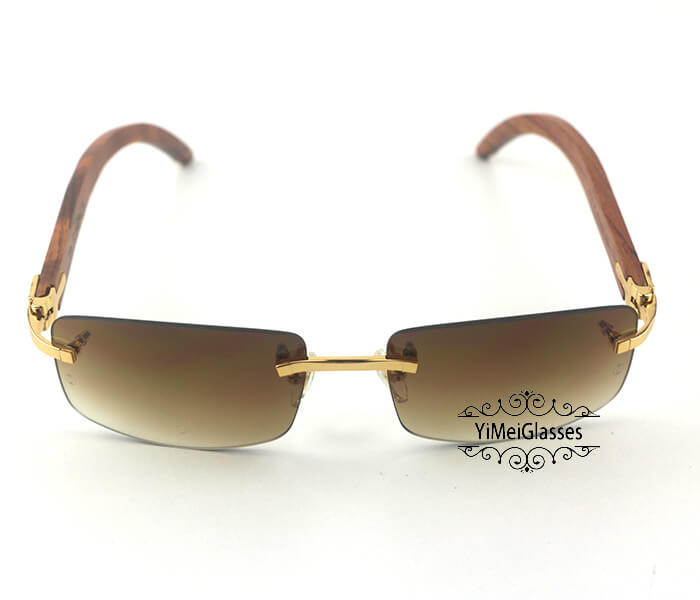 Cartier Wooden Classic Rimless Sunglasses CT3524012插图9