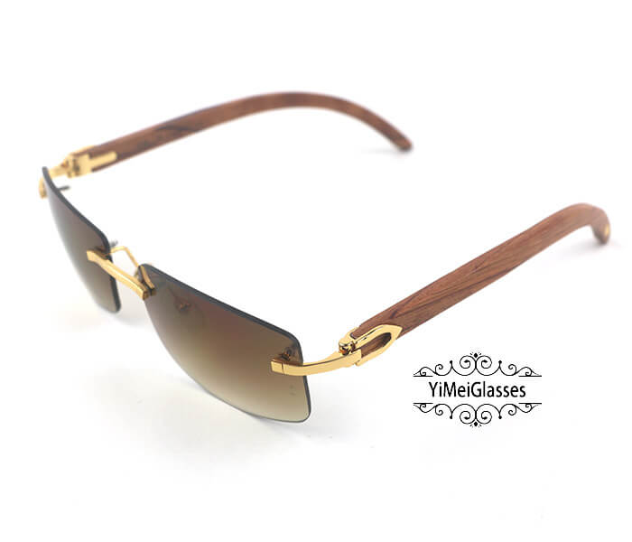 Cartier Wooden Classic Rimless Sunglasses CT3524012插图10