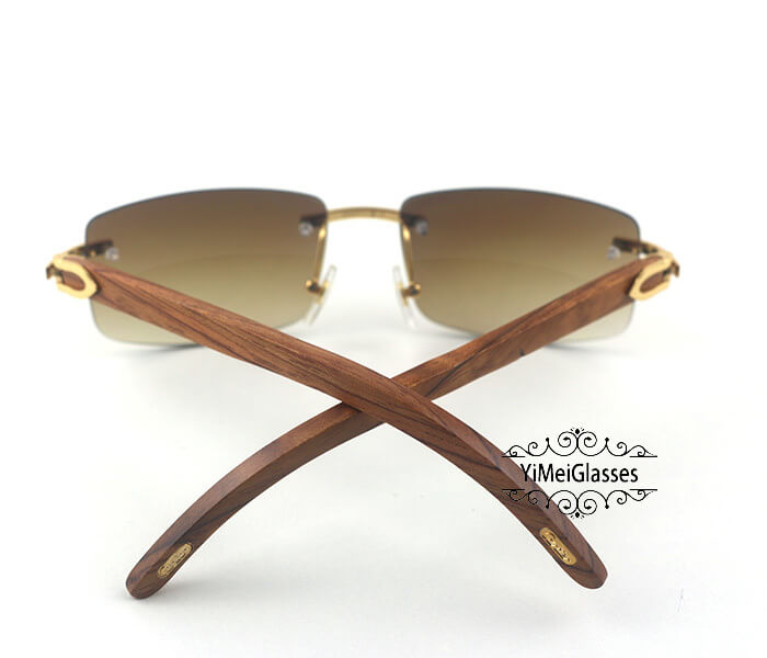 Cartier Wooden Classic Rimless Sunglasses CT3524012插图11