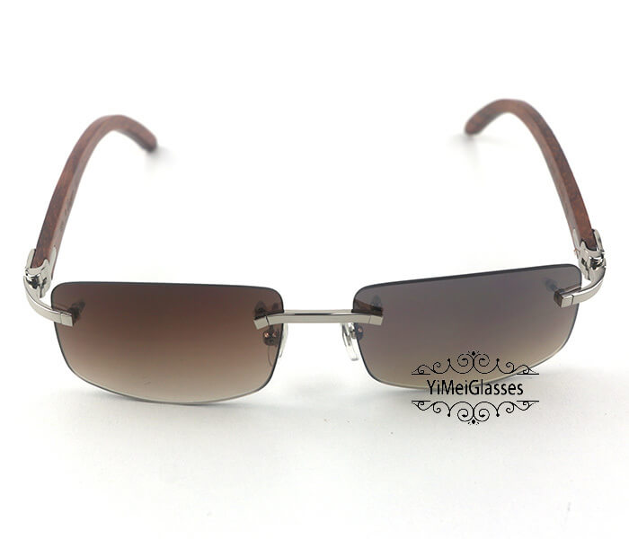 Cartier Wooden Classic Rimless Sunglasses CT3524012插图12