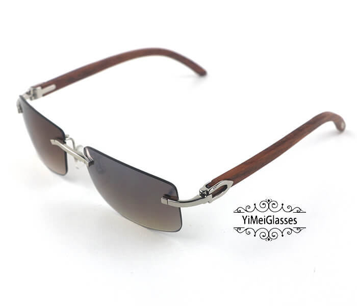 Cartier Wooden Classic Rimless Sunglasses CT3524012插图13