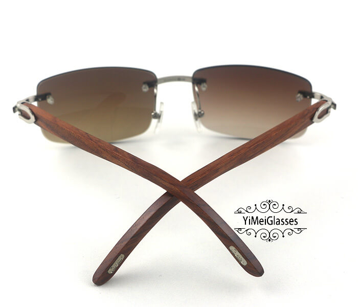 Cartier Wooden Classic Rimless Sunglasses CT3524012插图14
