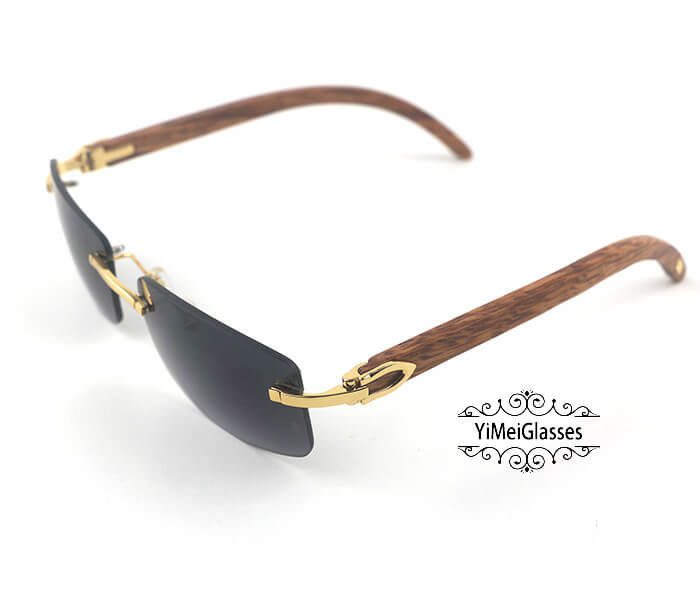 Cartier Wooden Classic Rimless Sunglasses CT3524012插图1