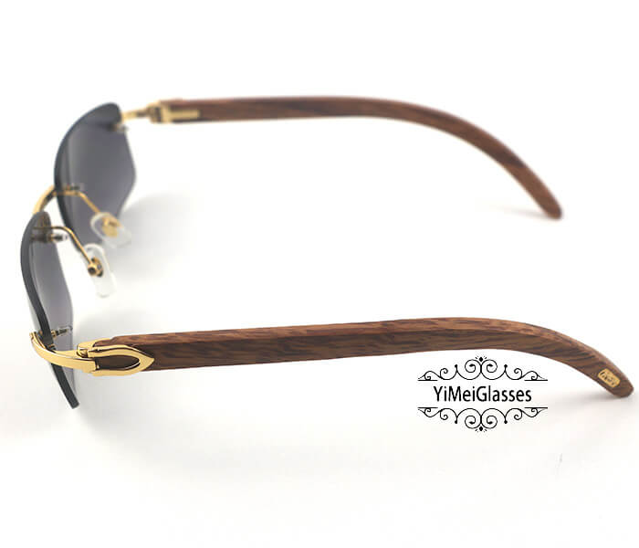 Cartier Wooden Classic Rimless Sunglasses CT3524012插图2