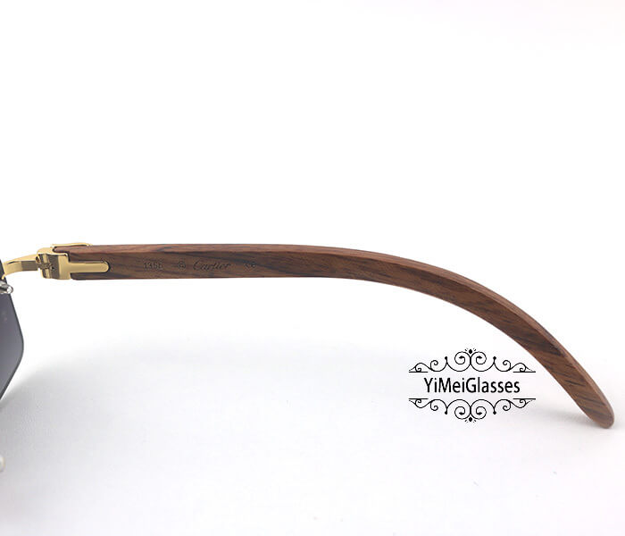 Cartier Wooden Classic Rimless Sunglasses CT3524012插图4