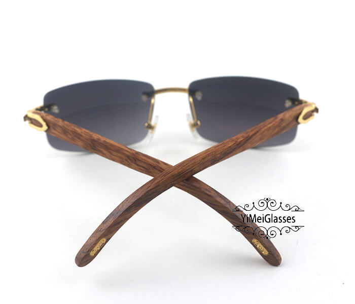 Cartier Wooden Classic Rimless Sunglasses CT3524012插图5