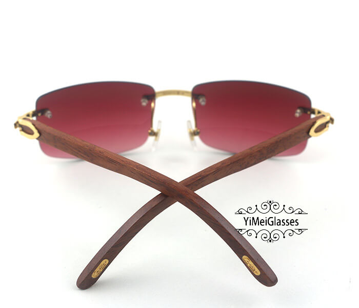 Cartier Wooden Classic Rimless Sunglasses CT3524012插图8