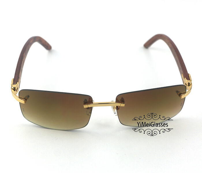 Cartier Wooden Classic Rimless Sunglasses CT3524012插图25