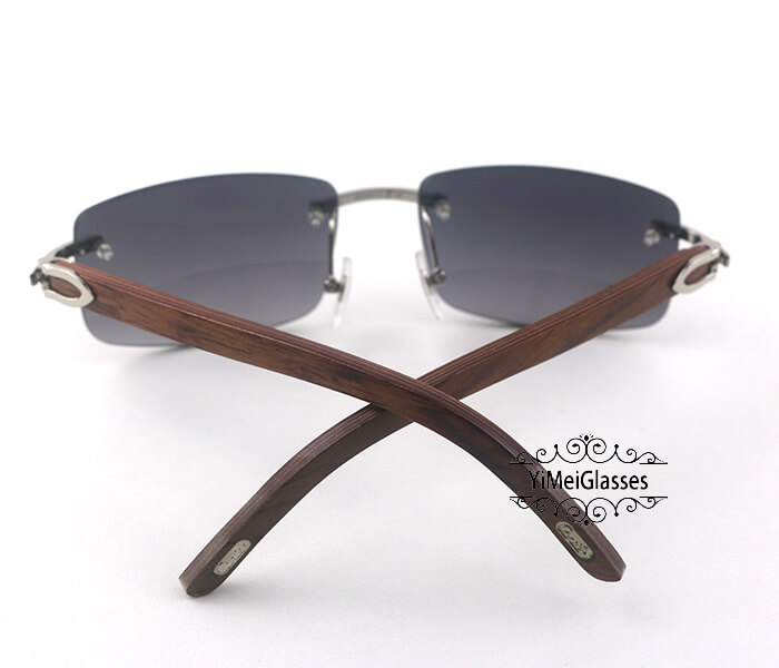 Cartier Wooden Classic Rimless Sunglasses CT3524012插图35