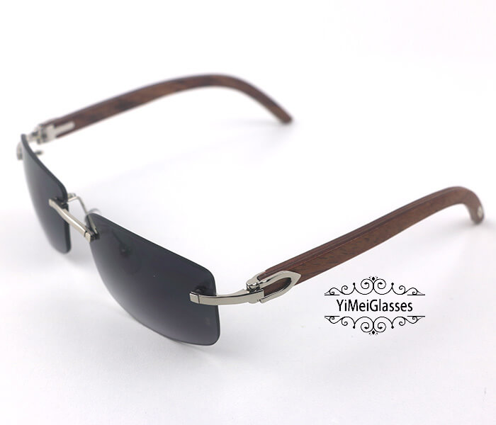 Cartier Wooden Classic Rimless Sunglasses CT3524012插图34