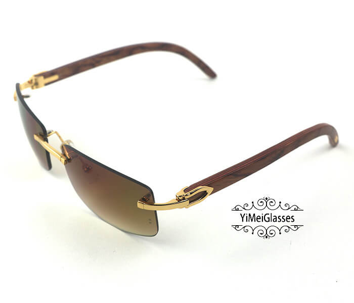 Cartier Wooden Classic Rimless Sunglasses CT3524012插图26