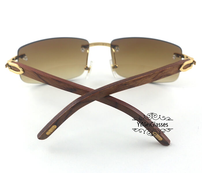 Cartier Wooden Classic Rimless Sunglasses CT3524012插图28