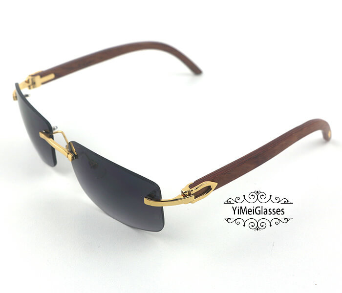 Cartier Wooden Classic Rimless Sunglasses CT3524012插图30