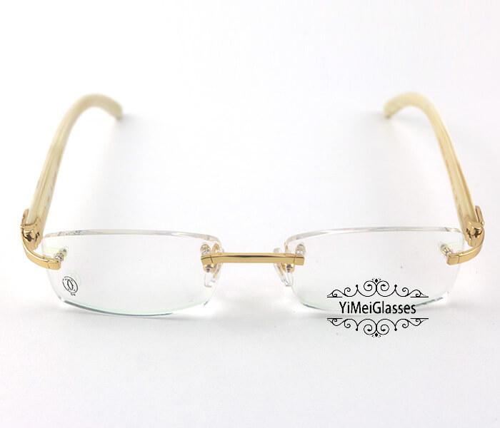 Cartier Horn Classic Rimless Optical Glasses CT3524012插图