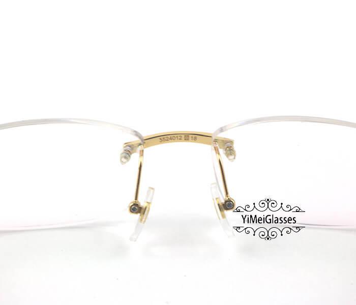 Cartier Horn Classic Rimless Optical Glasses CT3524012插图5