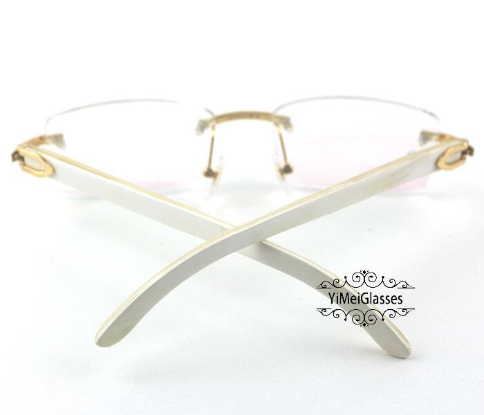 Cartier Horn Classic Rimless Optical Glasses CT3524012插图6