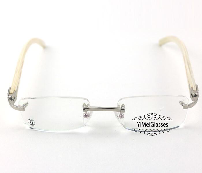 Cartier Horn Classic Rimless Optical Glasses CT3524012插图7