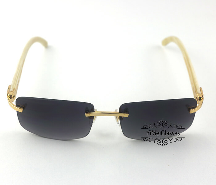 Cartier Buffalo Horn Classic Rimless Sunglasses CT3524012插图