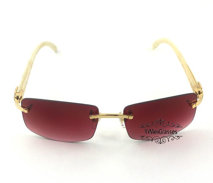 Cartier Buffalo Horn Classic Rimless Sunglasses CT3524012插图10